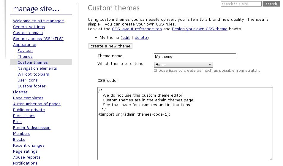 Customize Your Theme Wikidot Blog